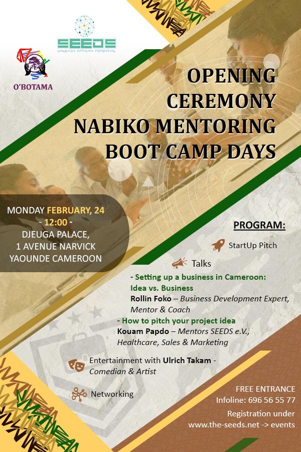 Cérémonie de lancement du bootcamp Nabiko